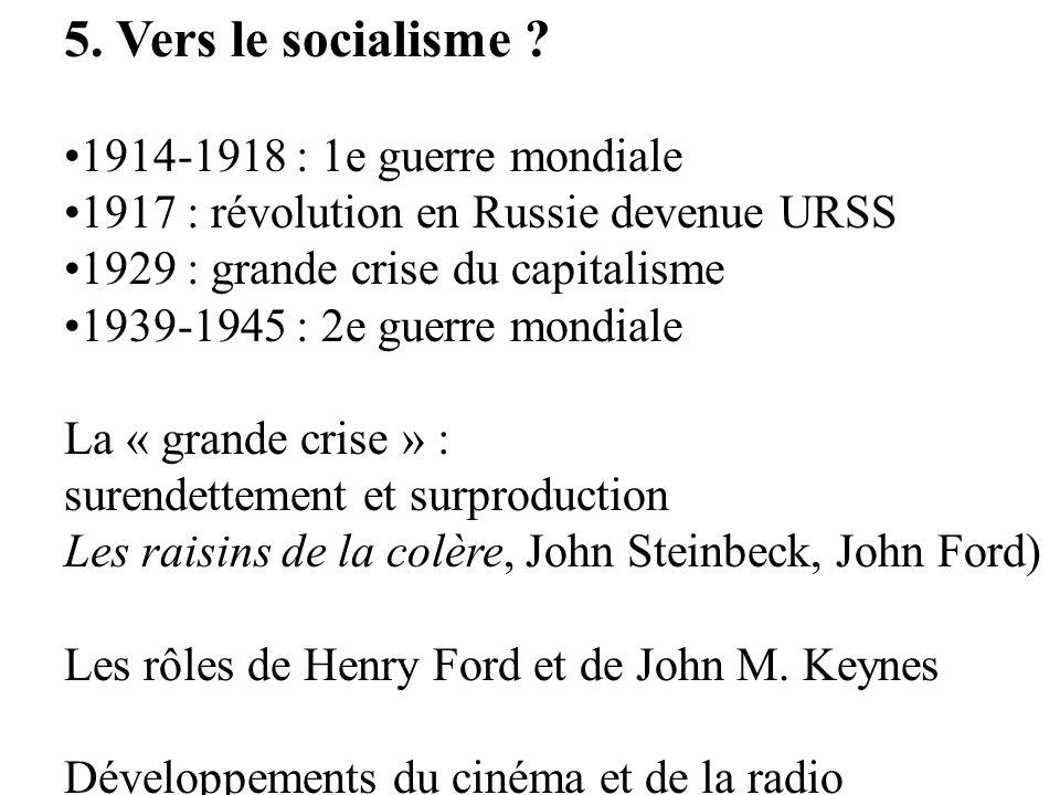 5. Vers le socialisme 1914-1918 : 1e guerre mondiale