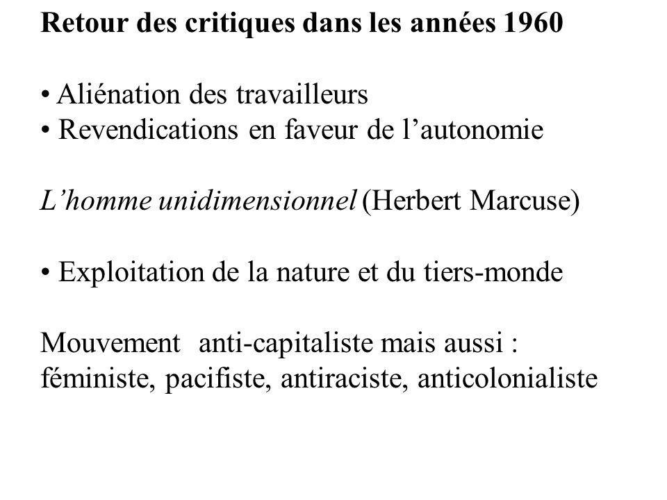 Retour des critiques dans les années 1960