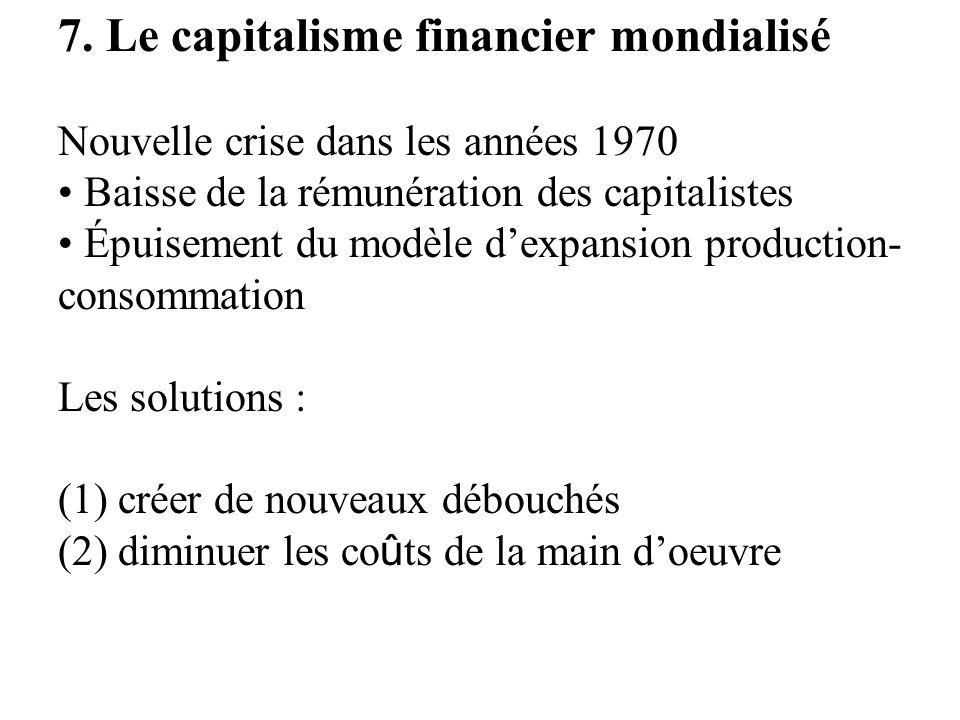 7. Le capitalisme financier mondialisé