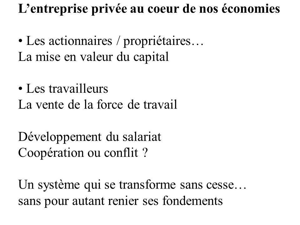 L'entreprise privée au coeur de nos économies