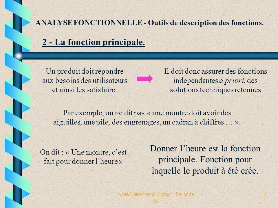 2 - La fonction principale.