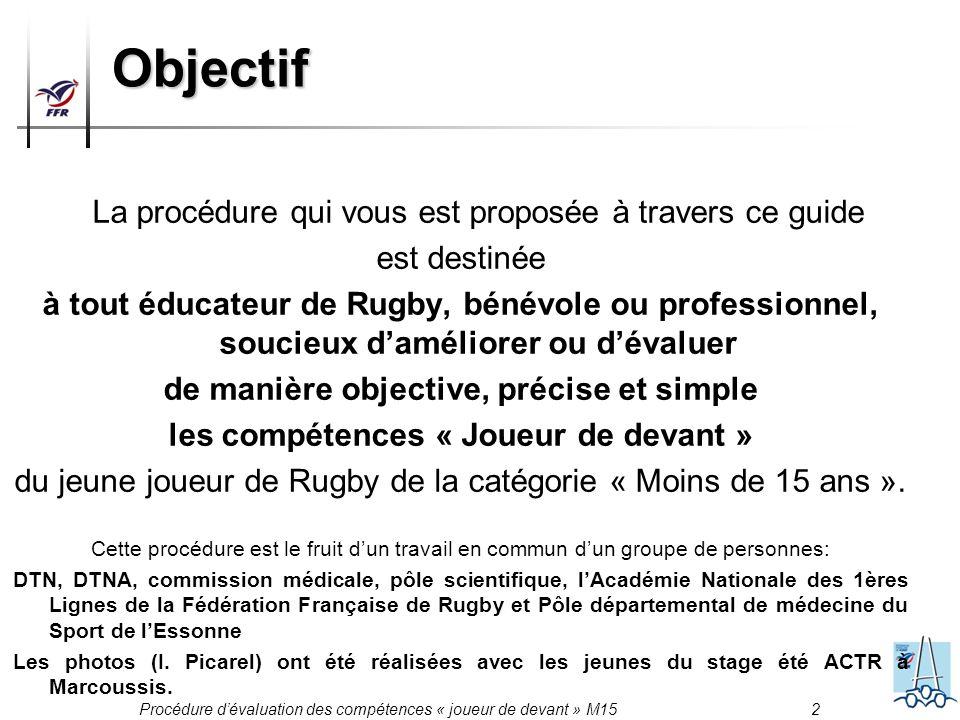 Objectif La procédure qui vous est proposée à travers ce guide