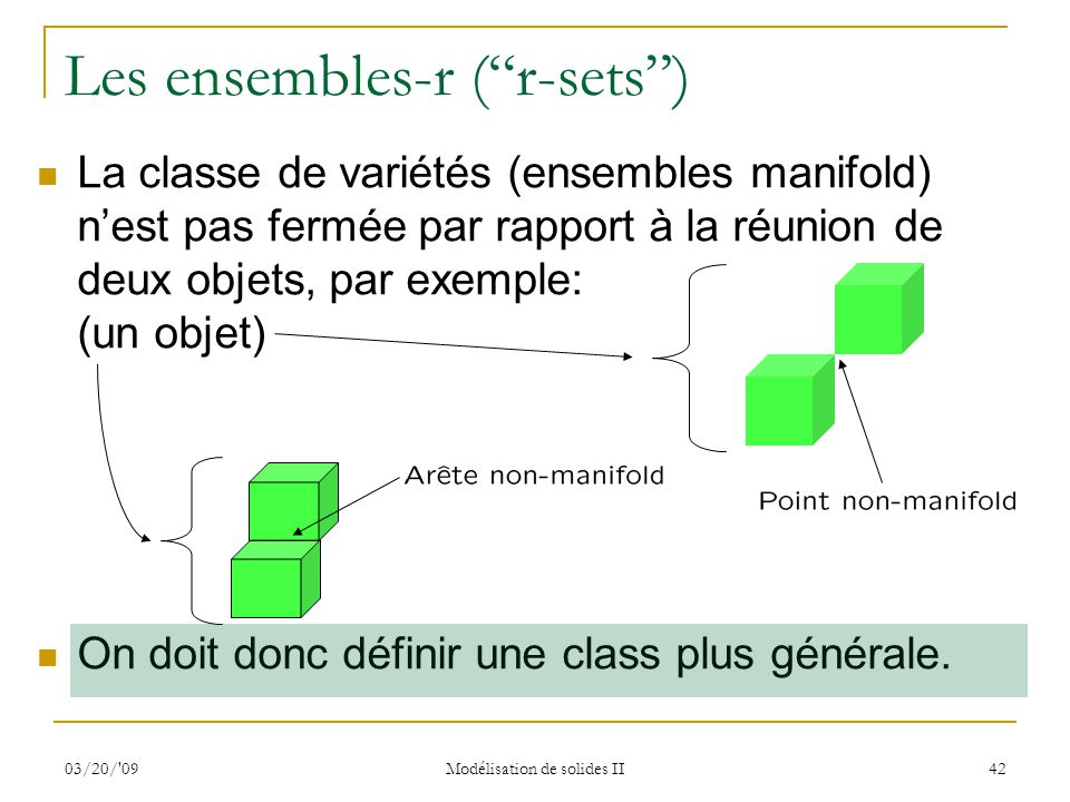 Les ensembles-r ( r-sets )