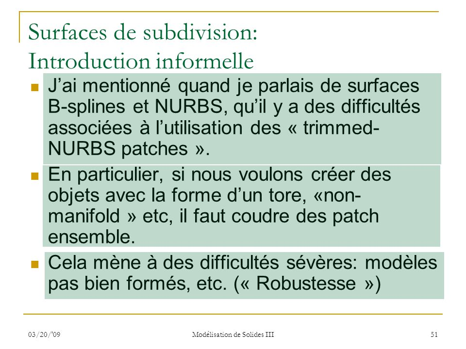Surfaces de subdivision: Introduction informelle