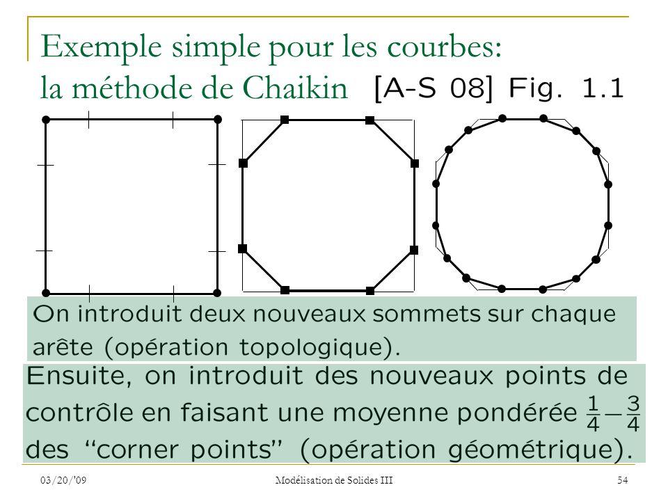 Exemple simple pour les courbes: la méthode de Chaikin