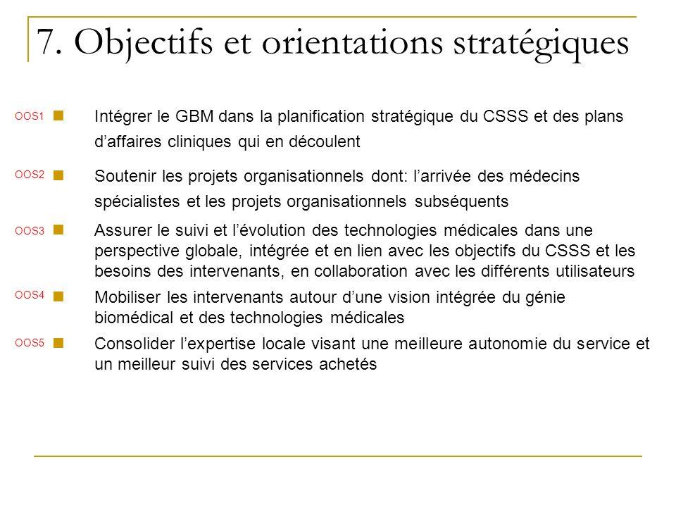 7. Objectifs et orientations stratégiques