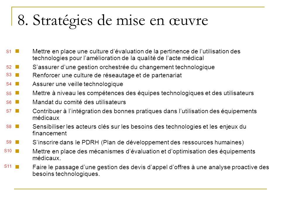 8. Stratégies de mise en œuvre