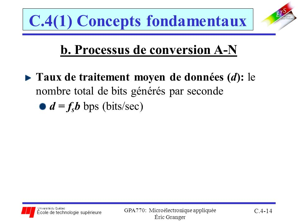 C.4(1) Concepts fondamentaux