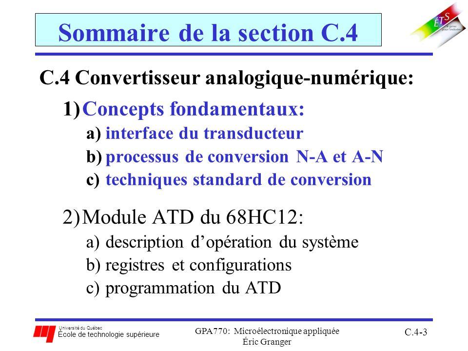 Sommaire de la section C.4