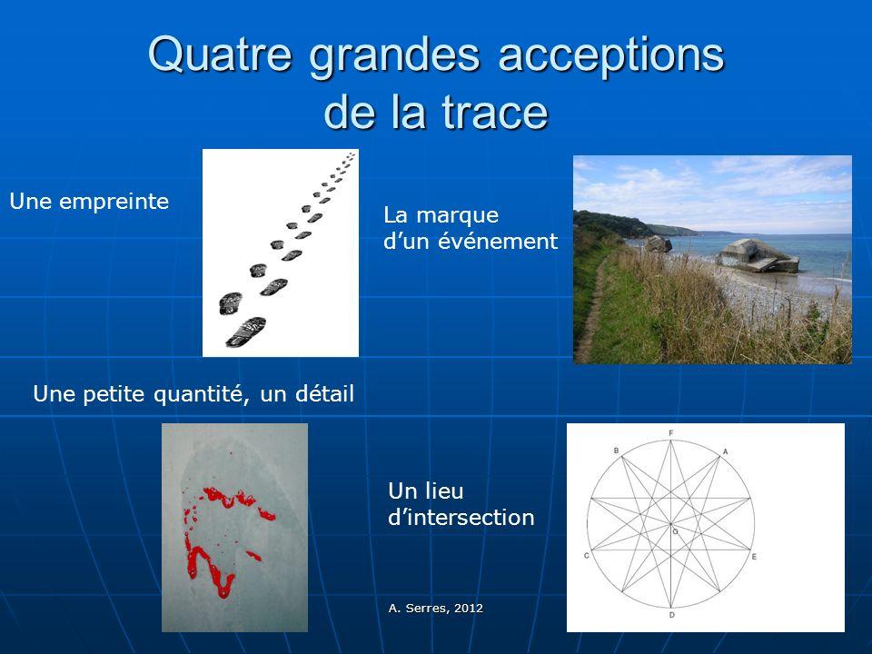 Quatre grandes acceptions de la trace