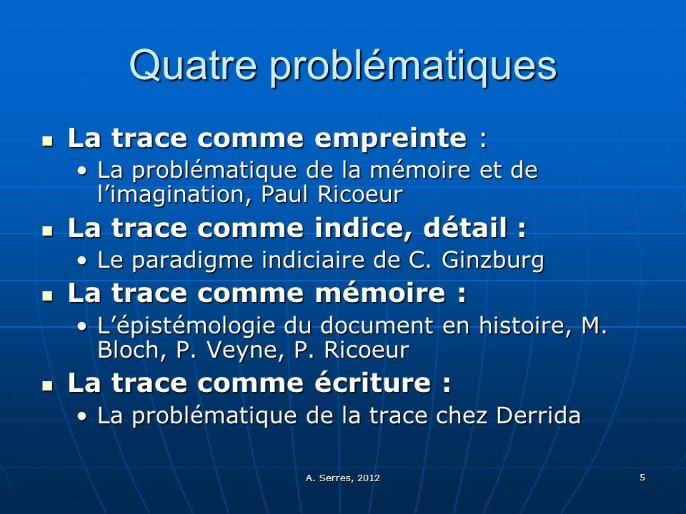 Quatre problématiques