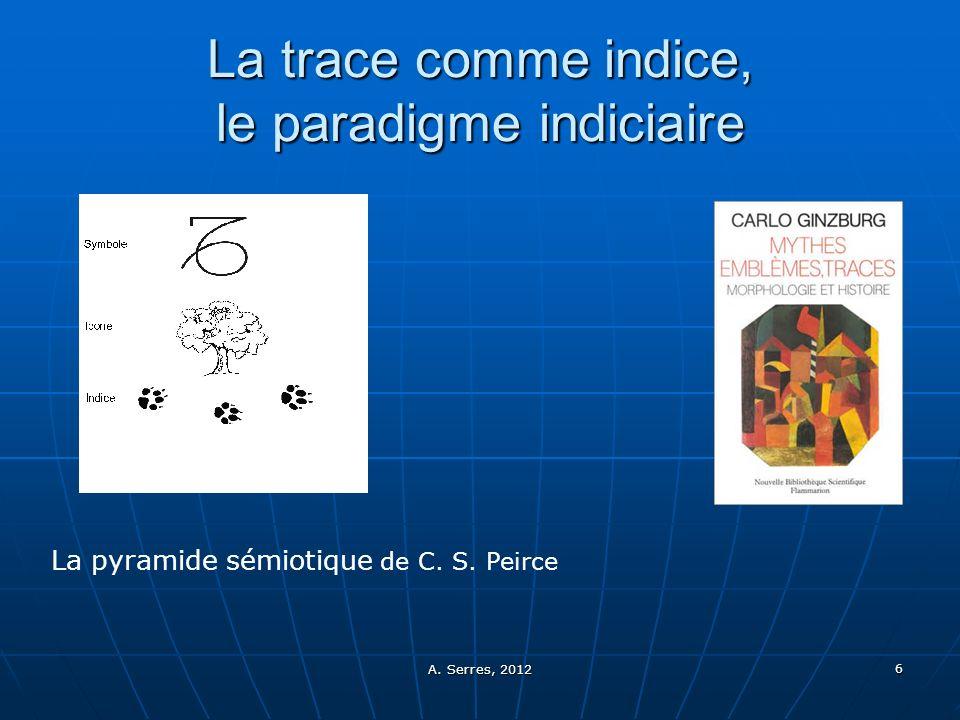 La trace comme indice, le paradigme indiciaire