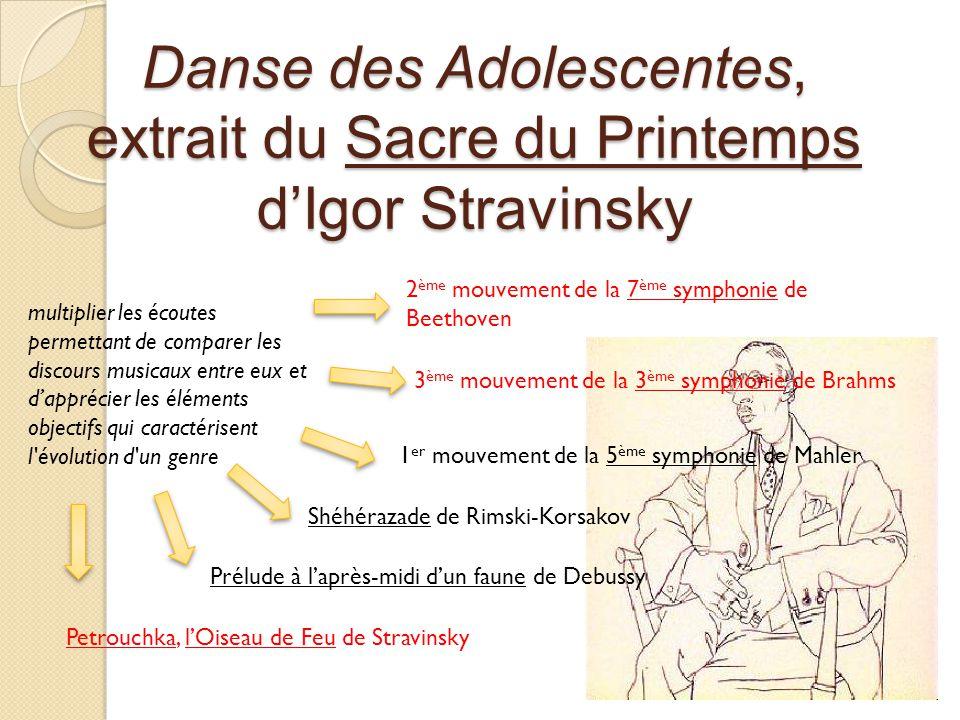 Danse des Adolescentes, extrait du Sacre du Printemps d'Igor Stravinsky