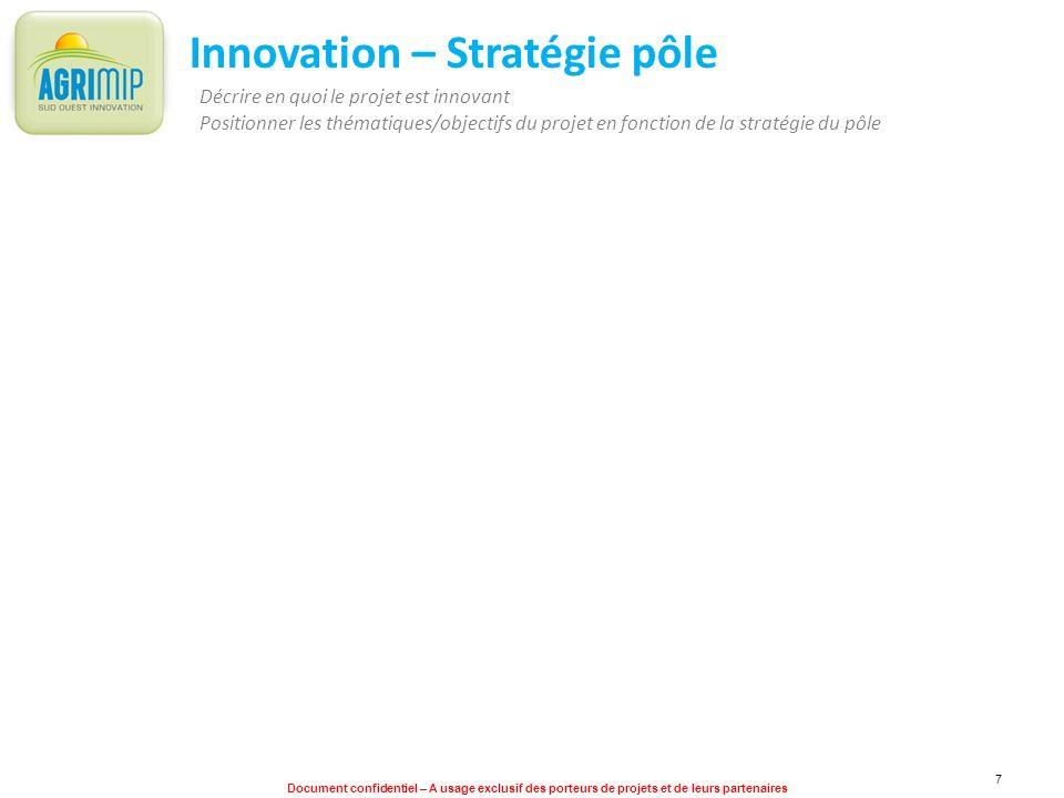 Innovation – Stratégie pôle