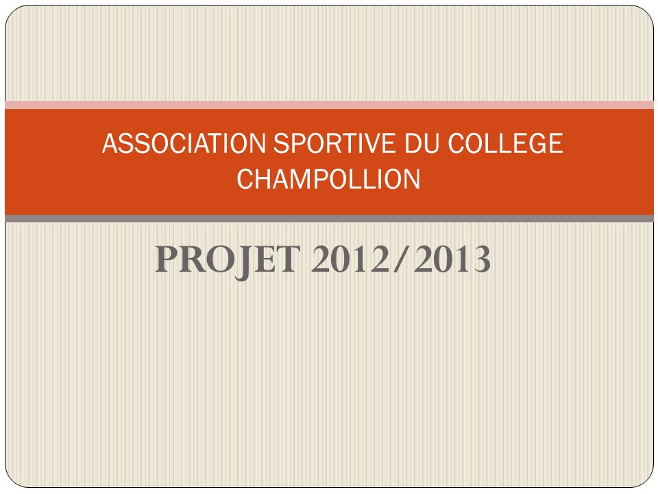 ASSOCIATION SPORTIVE DU COLLEGE CHAMPOLLION