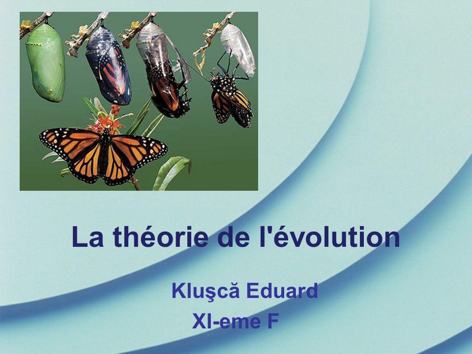 La théorie de l évolution