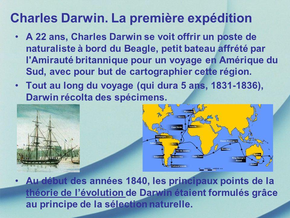 Charles Darwin. La première expédition