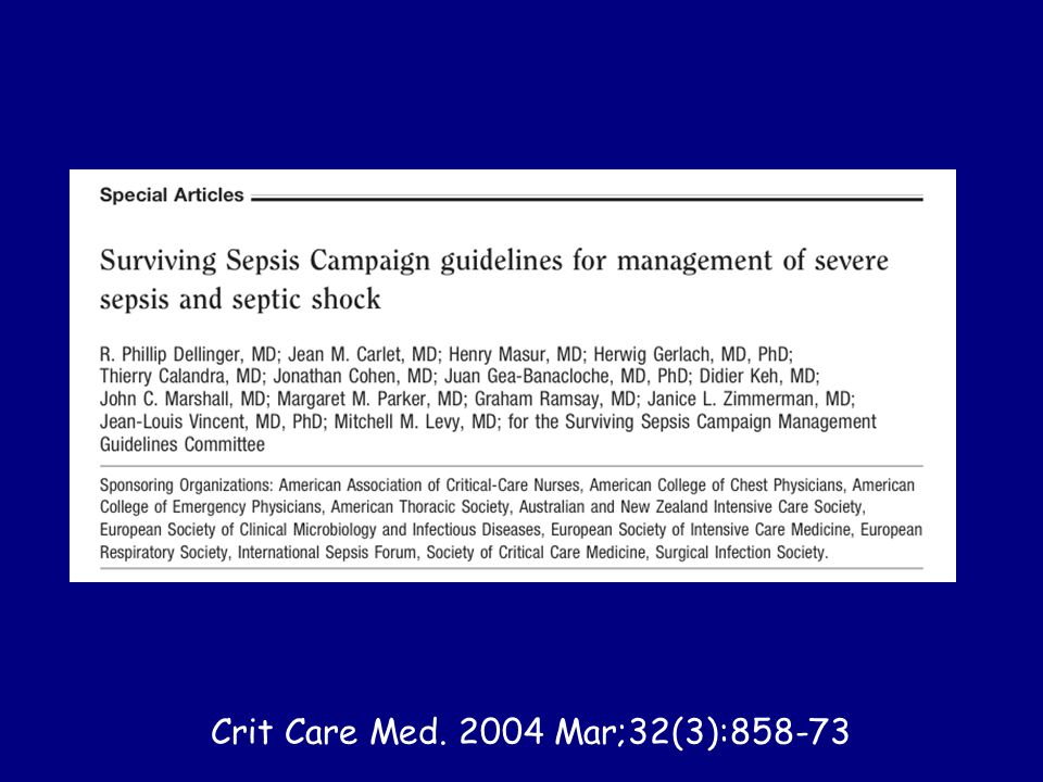 Crit Care Med. 2004 Mar;32(3):858-73