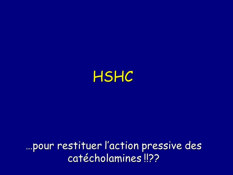 …pour restituer l'action pressive des catécholamines !!
