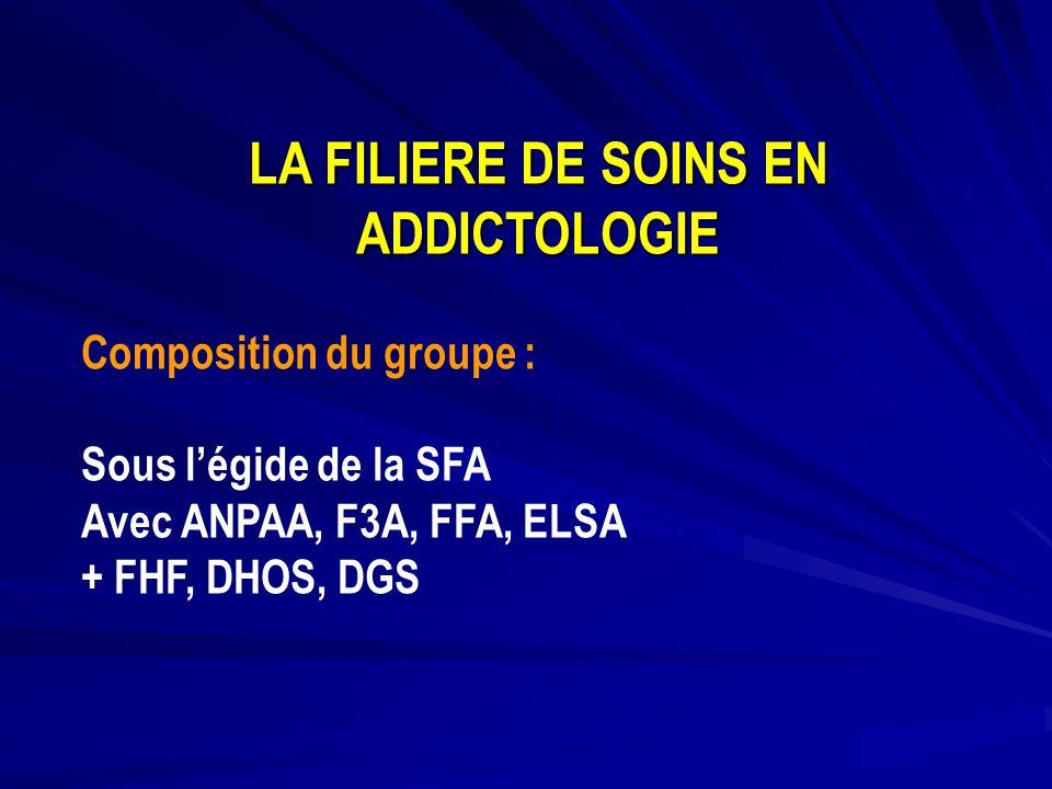 LA FILIERE DE SOINS EN ADDICTOLOGIE