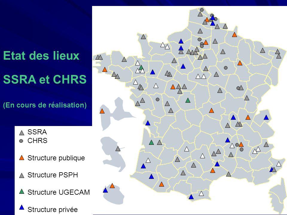 Etat des lieux SSRA et CHRS (En cours de réalisation) SSRA CHRS