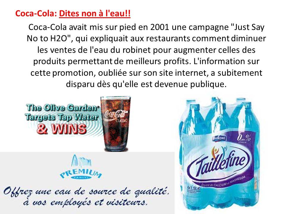 Coca-Cola: Dites non à l eau