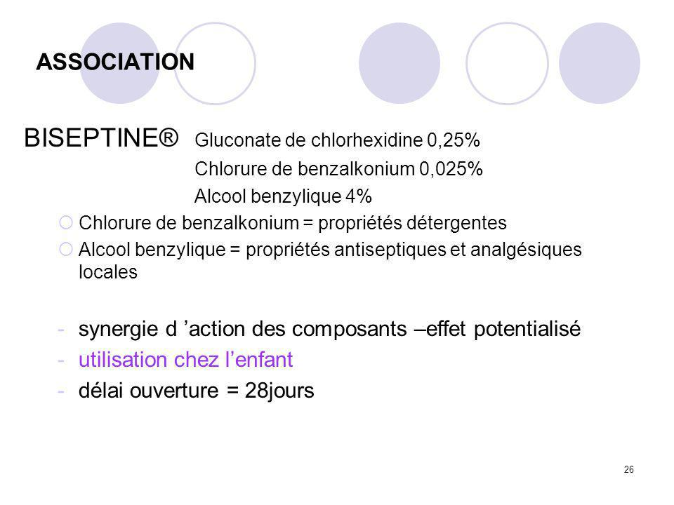 BISEPTINE® Gluconate de chlorhexidine 0,25%