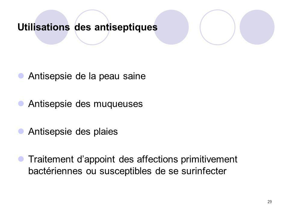 Utilisations des antiseptiques