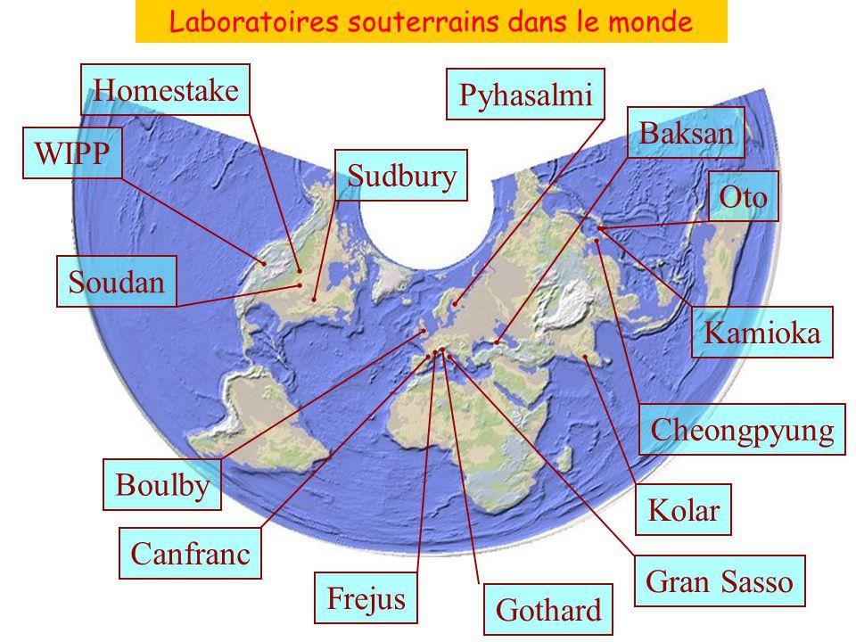 Laboratoires souterrains dans le monde