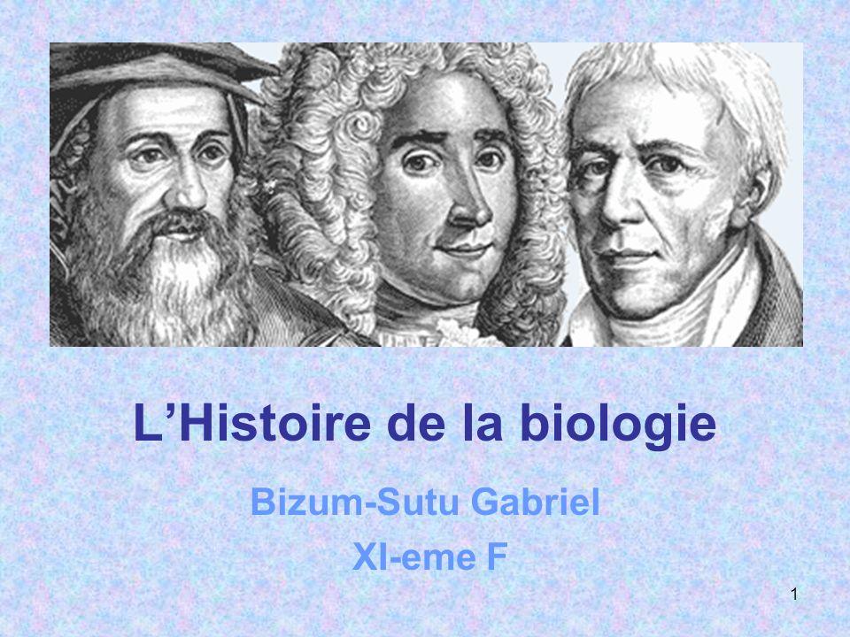 L'Histoire de la biologie