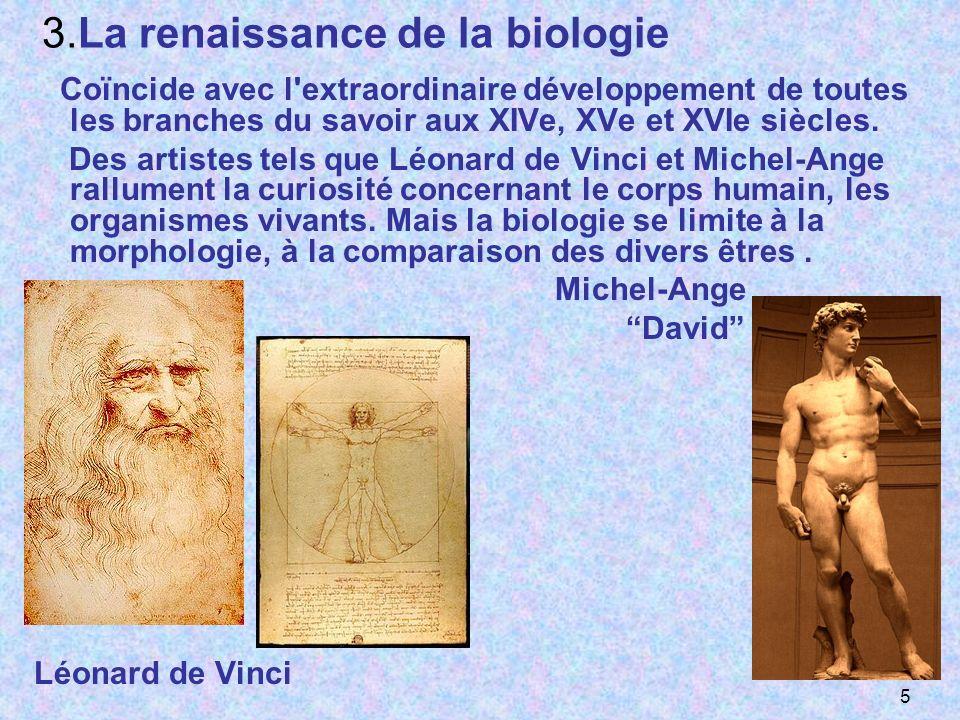 3.La renaissance de la biologie