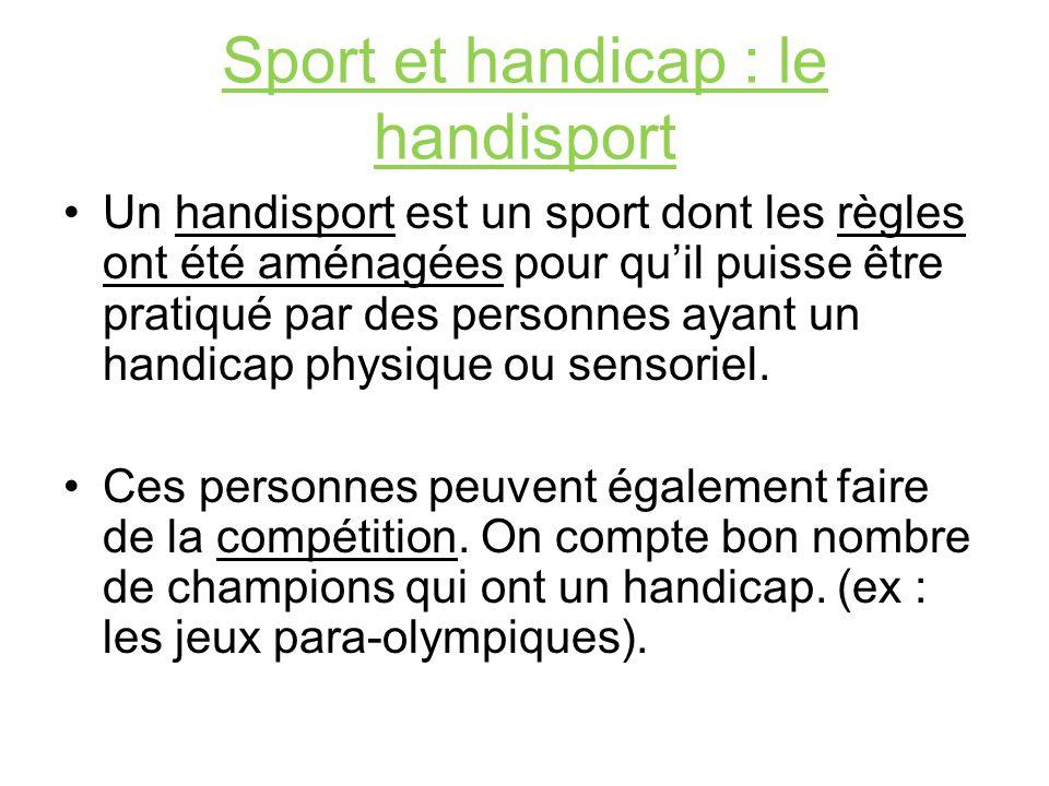Sport et handicap : le handisport