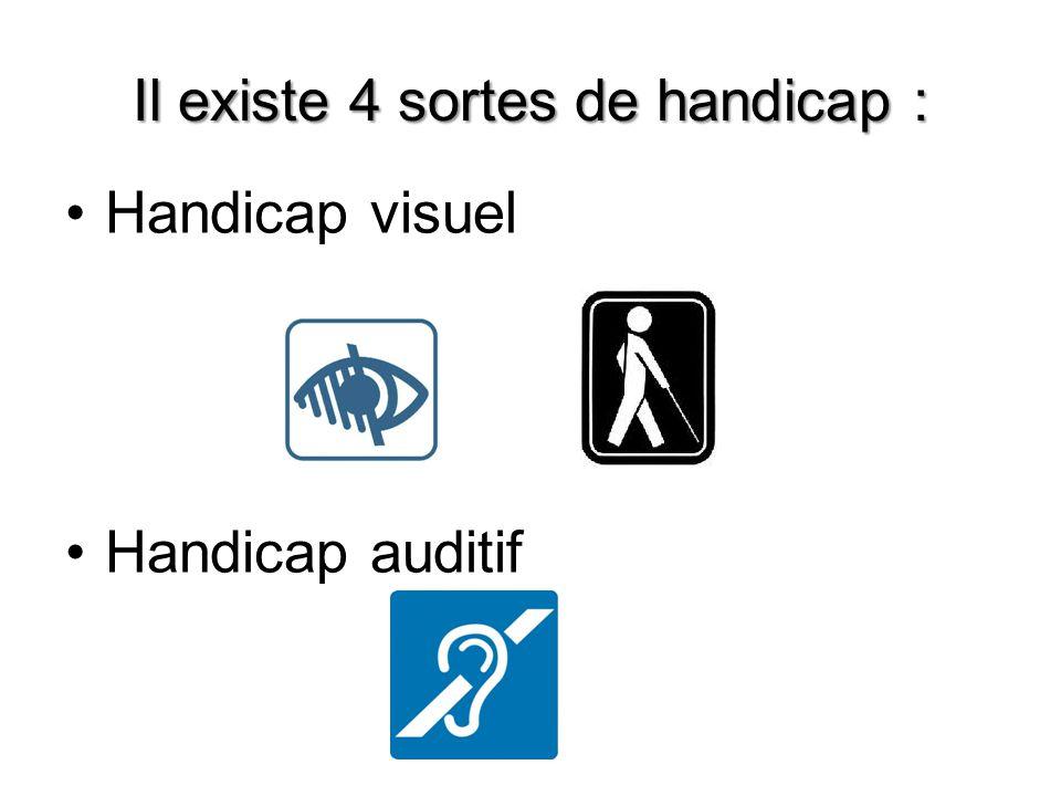 Il existe 4 sortes de handicap :