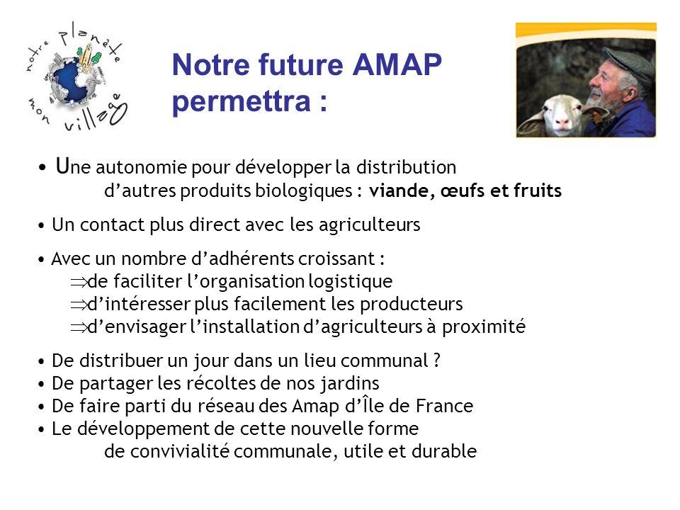 Notre future AMAP permettra :