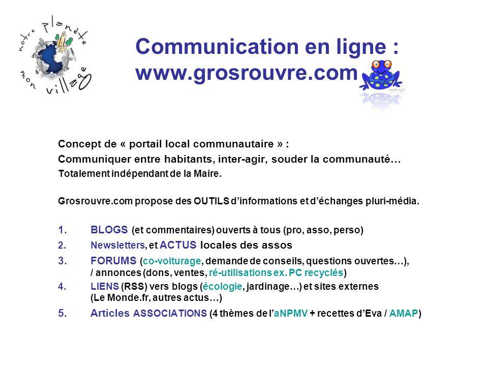 Communication en ligne : www.grosrouvre.com