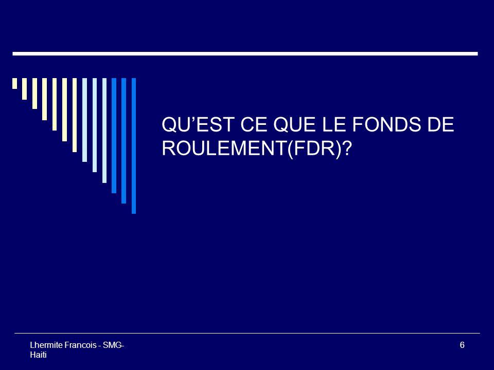 QU'EST CE QUE LE FONDS DE ROULEMENT(FDR)