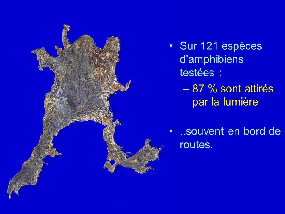 Sur 121 espèces d amphibiens testées :