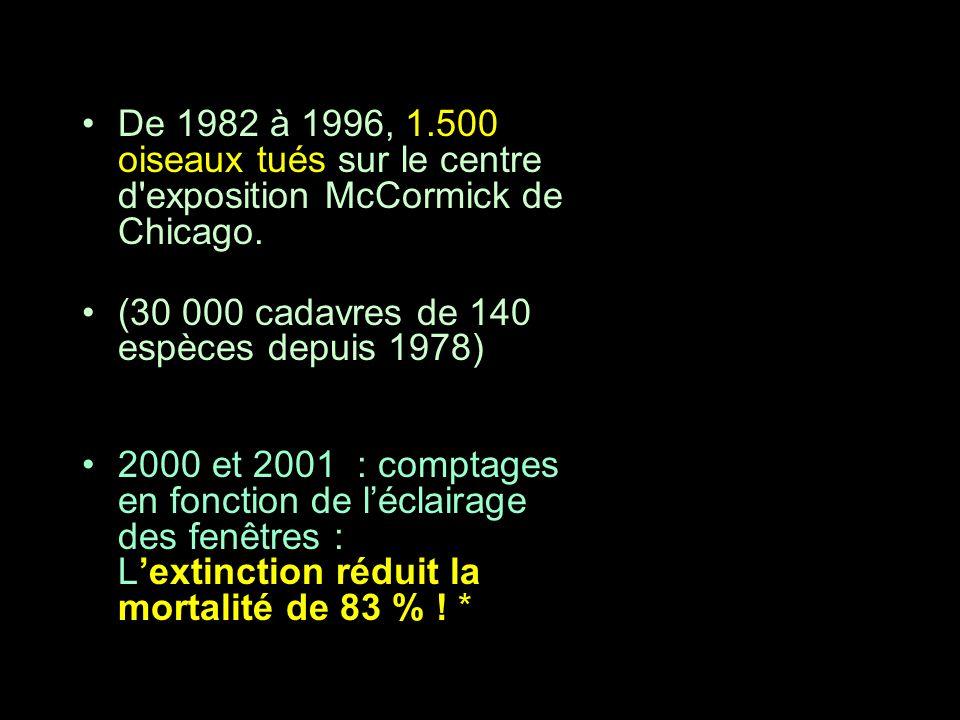 (30 000 cadavres de 140 espèces depuis 1978)