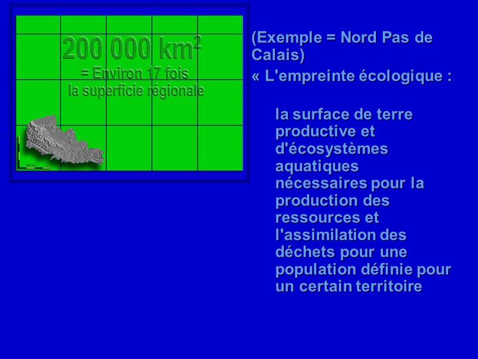 (Exemple = Nord Pas de Calais)