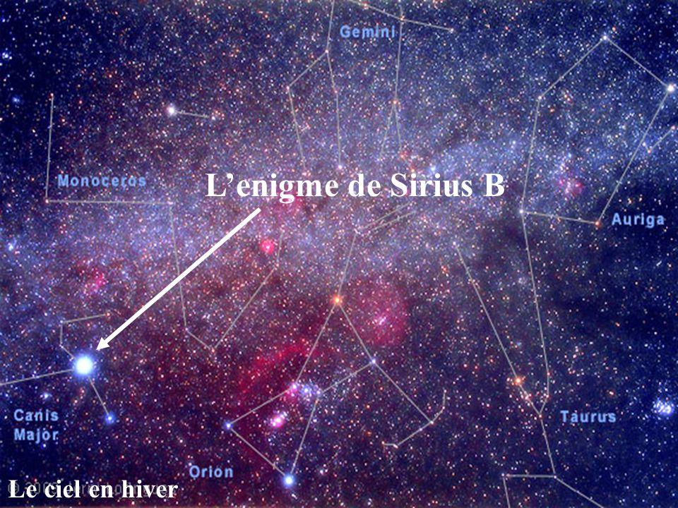 L'enigme de Sirius B Le ciel en hiver