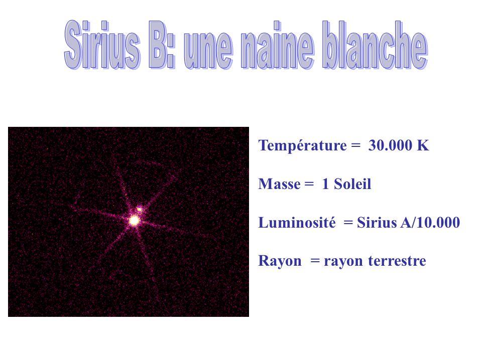 Sirius B: une naine blanche