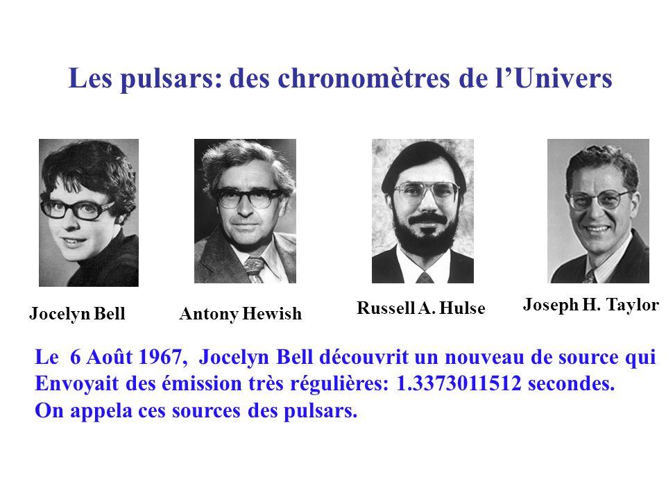 Les pulsars: des chronomètres de l'Univers