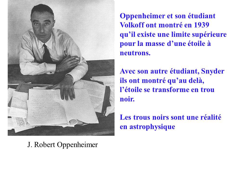 Oppenheimer et son étudiant