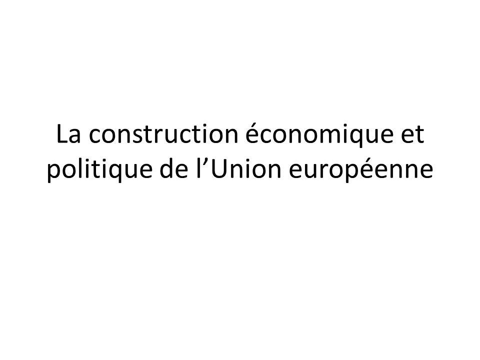 La construction économique et politique de l'Union européenne