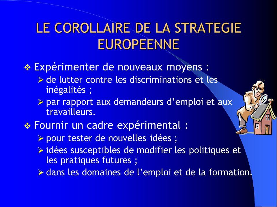 LE COROLLAIRE DE LA STRATEGIE EUROPEENNE