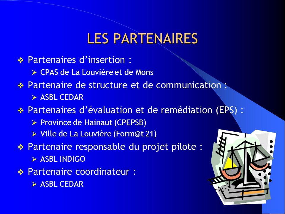 LES PARTENAIRES Partenaires d'insertion :