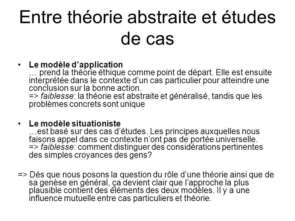 Entre théorie abstraite et études de cas