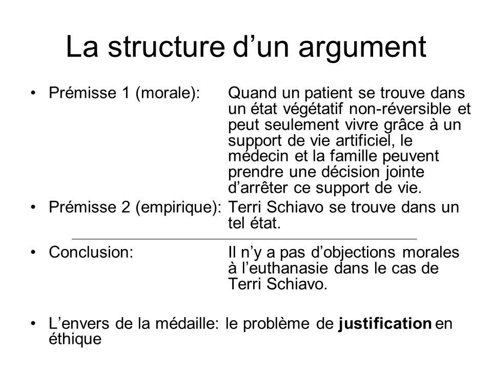 La structure d'un argument