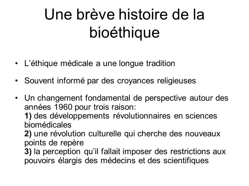 Une brève histoire de la bioéthique