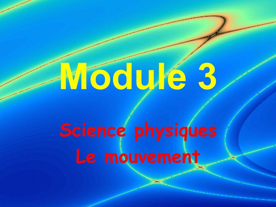 Science physiques Le mouvement